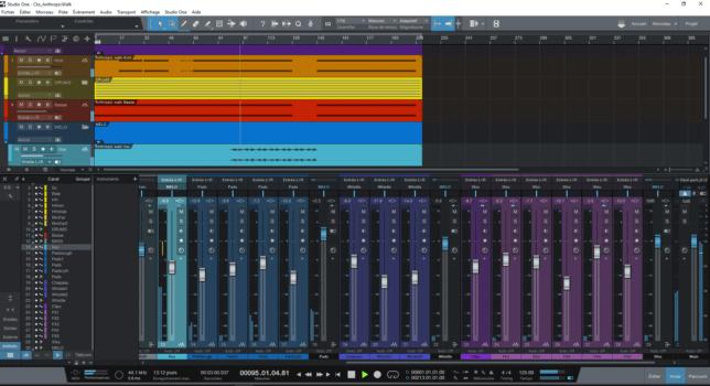 Mixdown in Studio One pro