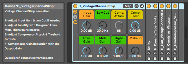 H-Bank002 ableton live 10 suite presets pack - Vintage channel strip