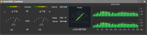 Live meterering suite for ableton daw max for live device