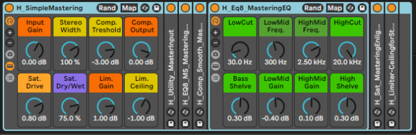 Simple Mastering Free Effect Rack Ableton Live