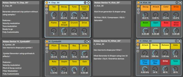 Drum Hits generators for ableton live suite