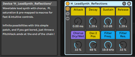 Lead synth rack ableton live suite
